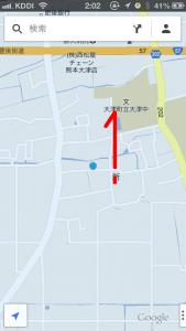 GoogleMap 片手で拡大