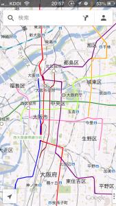 地下鉄の路線図をグーグルマップに表示させる