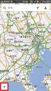 iPhone Googlemap 現在地に戻る