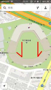 googlemap 3D表示