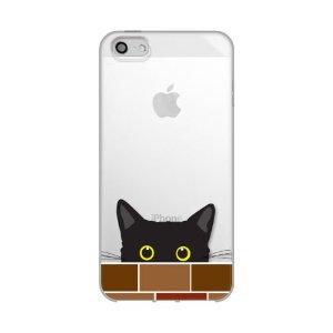 iPhone5ケース ねこ りんご