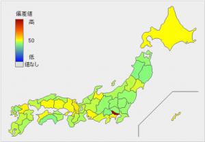 Facebook都道府県分布