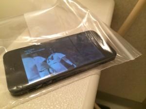 iPhoneを風呂で使う