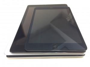 iPad機種別サイズ比較